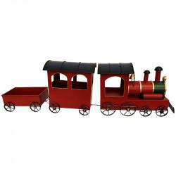 Tåg med 3 vagnar för dekoration
