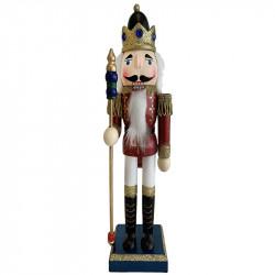 Nötknäpparfigur, 76 cm, kung med spira