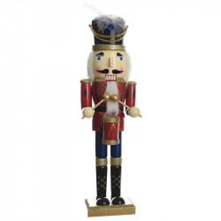Nötknäpparfigur, 76 cm soldat med trumma