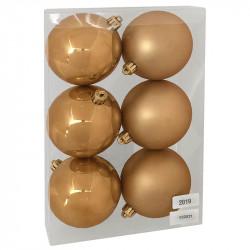Julgranskulor, Varm Guld, 8 cm, 6st./förpackning