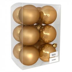 Julgranskulor, varm guld, 6 cm, 12st./förpackning