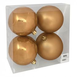 Julgranskulor, Varm Guld, 10 cm, 4st./förpackning
