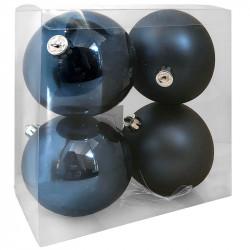 Julgranskulor, mörkblå, 10 cm, 4st./förpackning