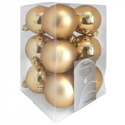 Julgranskulor, guld, 6 cm, 12st./förpackning