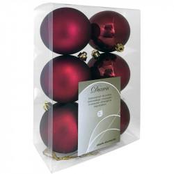 Julgranskulor, bordeaux, 8 cm, 6st./förpackning