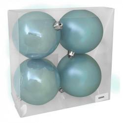 Julgranskulor, blå, 10 cm, 4st./förpackning