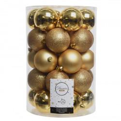 Julgranskulor, Guld-mix, 8 cm, 34st./förpackning