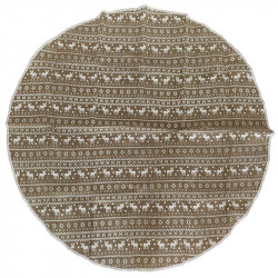 Julgransmatta, rund med ren