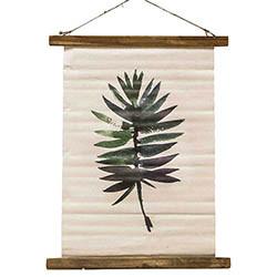 Duk med palmblad-motiv och fästanordning