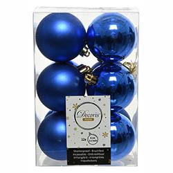Julgranskulor, Royal Blue, 6cm, 12st./paket