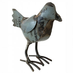 Fågel till dekoration, återvunnen metall