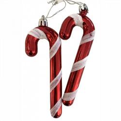 Julgranshänge, 2 stk. polkakäpp med hänge