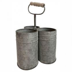 Bestickhållare i zink, svart, köksförvaring
