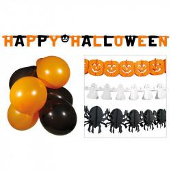 Party-set Halloween med rankar och ballonger