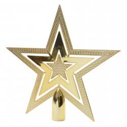 Julgranstjärna, 20cm Guld