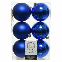 Julgranskulor, Royal Blue, 8cm, 6st./paket