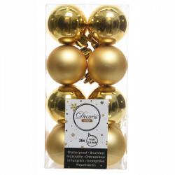 Julgranskulor, Guld, 4cm, 16st./paket