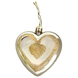 Julgranspynt, hjärta m glitter