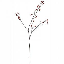 Tranbärsgren, orange, 92cm, konstgjord växt
