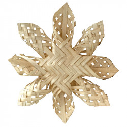 Snöflinga i bambu, handgjorda