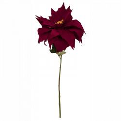 Julstjärna på stjälk, röd, 50cm, konstgjord blomma