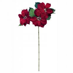 Julstjärna bukett, röd, 83cm, konstgjord blomma