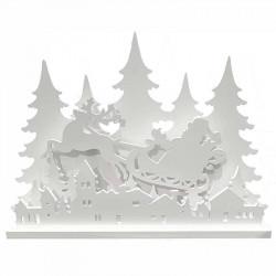 Julscen 3D-effekt, LED-ljus, utomhus, 69cm