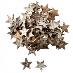 Stjärnor i bark till dekoration,4cm