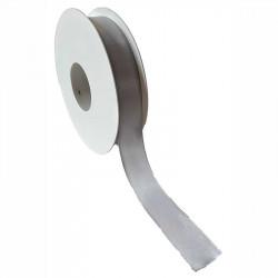 Silvrigt taftband, 25mm, 100m per rulle