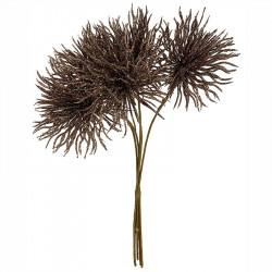 Tistelbukett, brun, 30cm, konstgjord växt