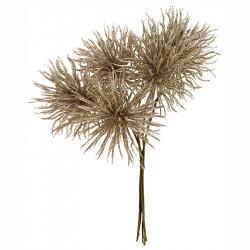 Tistelbukett, champagne, 30cm, konstgjord växt