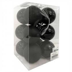 Julgranskulor, svart, 6 cm, 12st./förpackning