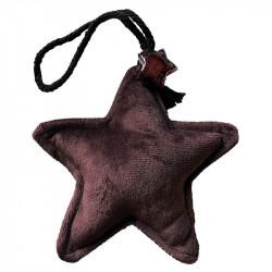 Stjärna av velour, Brun, Julgranspynt
