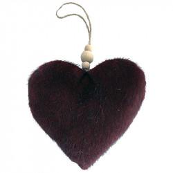 Julgranspynt, Hjärta av velour, Bordeaux