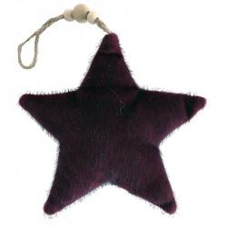 Julgranspynt, Stjärna av velour, Bordeaux