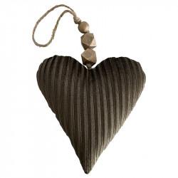 Julgranspynt, Hjärta av velour, gammelbrun