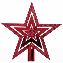 Julgranstjärna, 20cm Röd