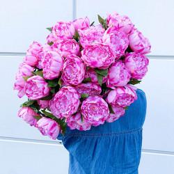 Pion på stjälk 71 cm Rosa, konstgjord blomma