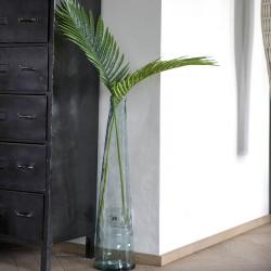 Vas i blåaktig återvunnet glas, 80 cm