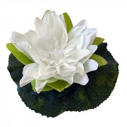 Näckros, creme, 18cm, konstgjord blomma