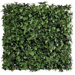 Platta med mixade blad, murgröna, UV, 50x50cm, konstgjort gräs