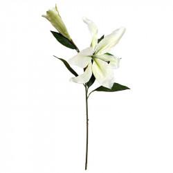 Lilja på stjälk, vit, 74cm, Konstgjord blomma