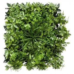 Bladmix platta, paraplyträd, UV, 50x50cm, konstgjord växt