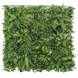 Bladmix platta, blandad, 100x100cm, UV, konstgjord växt
