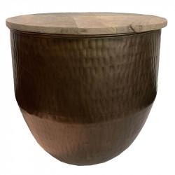 Sidobord metall m mangoträtopp, Large