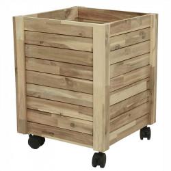Planteringslåda av trä på hjul, Large, FSC 100%,