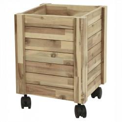 Planteringslåda av trä på hjul, Medium, FSC 100%,
