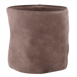 Krukfodral i läder, Ø21,5cm, Grå