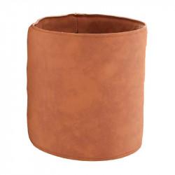 Krukfodral i läder, Ø15,5cm, Cognac färgad