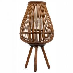 Handgjord lykta på ben av bambu, 43cm